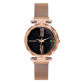 Luxury Ladies Starry Sky Watch Rose Gold Women Bracelet Watches Magnetic Bukle Mesh Fashion Casual Female Waterproof Clock Reloj 1