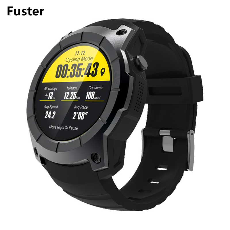 Fuster Colorful Touch Screen GPS Sport Smart Watch S958 HR Monitor and SIM Card Watch Support BT Call and Message Reminder Clock smart baby watch q60s детские часы с gps голубые