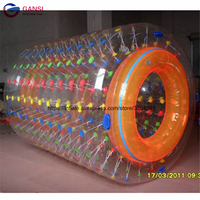 1.0mm PVC/TPU colorful Walk On Water roller Ball,soft Inflatable water roller cylinder for kids
