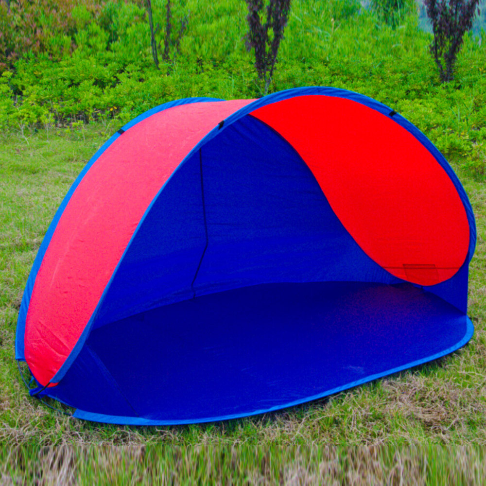 ФОТО Camping Hiking Hunting Tourist  Fishing Beach Picnic Quick Automatic Open Instant Portable Cabana Tent 2 Person Anti UV Shelter