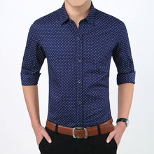 Fashion Brand Men Clothes Slim Fit Long Sleeve Shirt