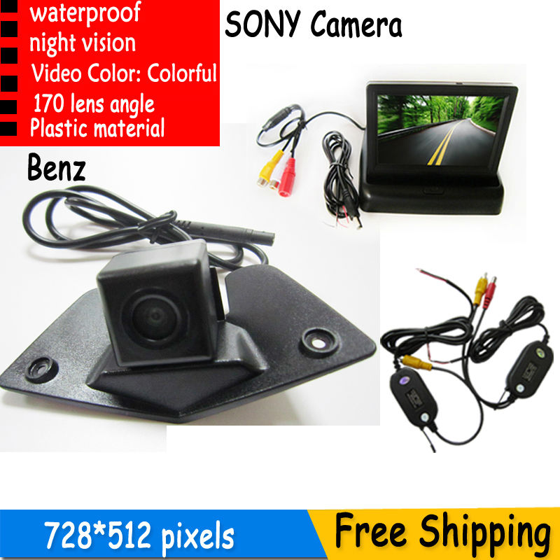 Wireless Waterproof Car Rearview Parking SONY Camera With 4.3Inch TFT LCD Monitor For Mitsubishi Outlander 2007 2010