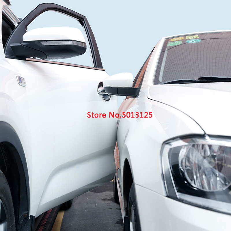 For Hyundai Tucson 2019 Car Door Edge Guards Anti collision Auto Door Strip Bumper Protector Car Crash Anti rub Protection in Styling Mouldings from Automobiles Motorcycles