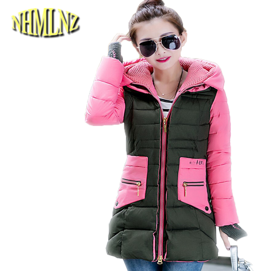 Chinese Style Winter Fashion Women New Down jacket Hooded Thick Warm Coats Big yards Slim Long sleeve Medium long Coat G1925 women winter jacket new fashion hooded fur collar coat long sleeve thick warm cotton down jacket slim big yards women coat g2722