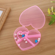 5 Cells Compartment Plastic Storage Box Case Jewelry Tools Heart Shape Beads Tiny Stuff Container Bags For Jewelry ZA5688