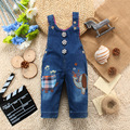 Boys Girls Denim Jeans character  Children Overalls  Kids Jeans  Denim jumpsuit overalls  Jeans bibs Openable-crotch