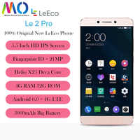 New and Origina Letv LeEco Le 2 PRO X625 Mobile Phone MediaTek Helio X25 CPU Android 6.0 5.5inch 21.0MP Fingrprint ID Smartphone
