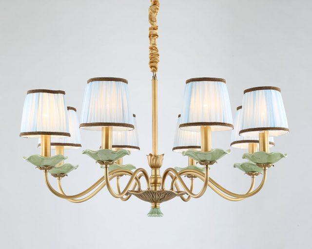 Moderne Voll Bronze Kupfer Kronleuchter Für Schlafzimmer Esszimmer  Wohnzimmer Lotus Blume Stil Mit Keramik Luxury Home