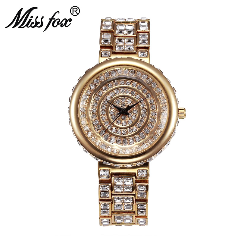 Miss Fox Luxury Quartz Women Watches Brand Gold Business Bracelet Ladies Watch Waterproof WristWatch Ceasuri Relogio Femininos miss fox role watches quartz women famous brand rose gold watch waterproof diamond stainless steel ar ladies luxury wrist watch