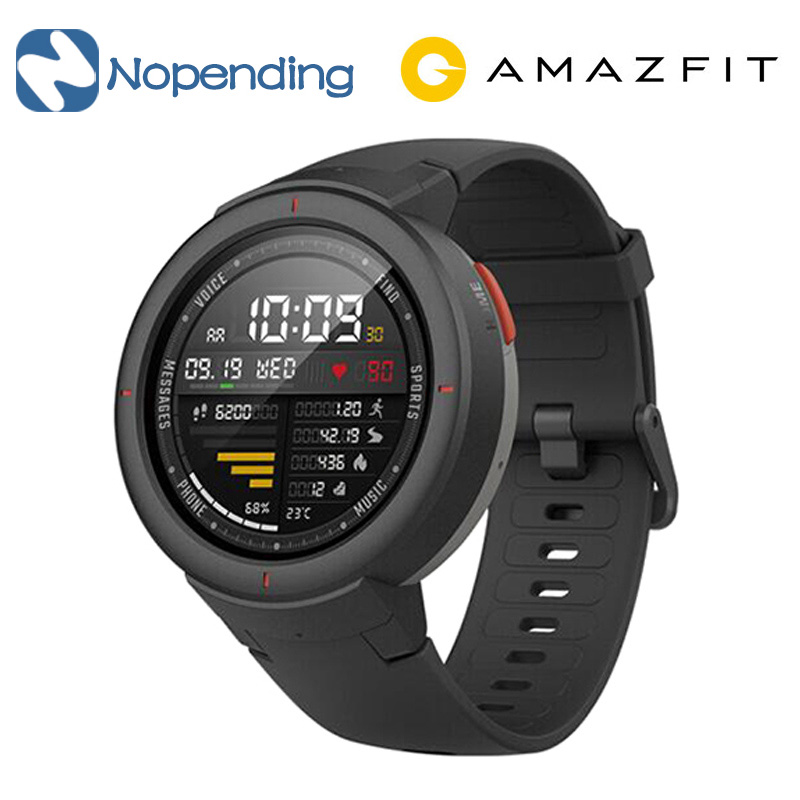 English Version Xiaomi Huami AMAZFIT Verge 3 GPS Smart Watch IP68 AMOLED Screen Answer Calls Smartwatch