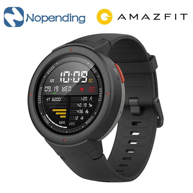 Inglese Versione Xiao mi hua Mi amazfit sull'orlo 3 Astuto di Gps della VIGILANZA IP68 Amoled SCHERMO RISPONDERE Alle Chiamate Smartwatch Multi Sport per mi mi 8