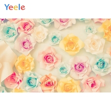 Yeele Vinyl Colorful Paper Flower Children Birthday Party Photography Background Wedding Photographic Backdrop For Photo Studio