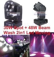 Sale 2016 Mini 30W LED Spot + 48W RGBW LED Beam Wash Moving Head Light USA Luminums 30W DJ Disco DMX Professional Stage Lights