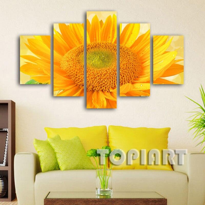 Aliexpress.com : Buy Modern Flower Canvas Art Wall Decor Sunflower ...