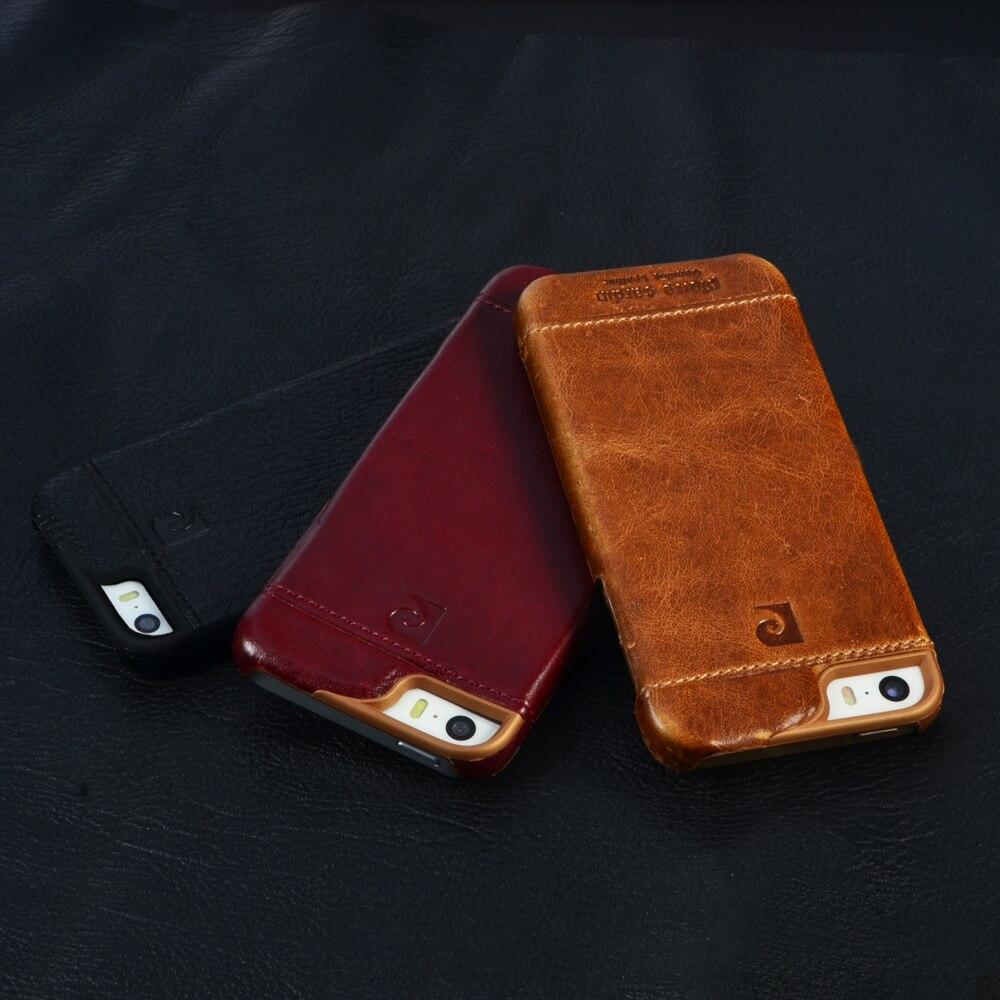 Pierre Cardin из натуральной кожи роскошные модные ячейки чехол для телефона для iPhone SE 5 5 г 5S задняя крышка Винтаж