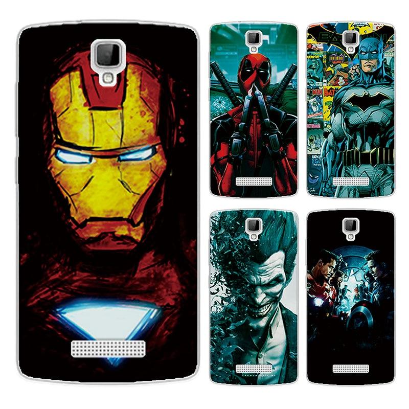 For ZTE Blade L5 L5 Plus Case Cover Charming Marvel Avengers Captain America Shield Iron man Spiderman Fundas For ZTE Blade L5