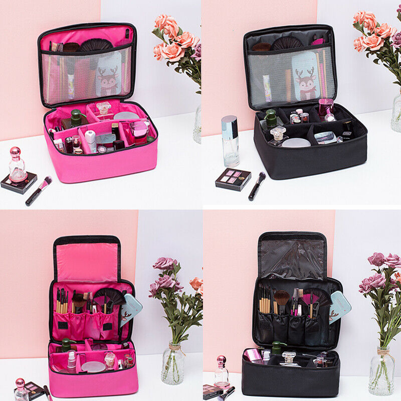 Casual Cosmetic Bags Makeup Solid Zipper Pouch Pencil Pen Case Cosmetic Bag Toiletry Wash Organizer