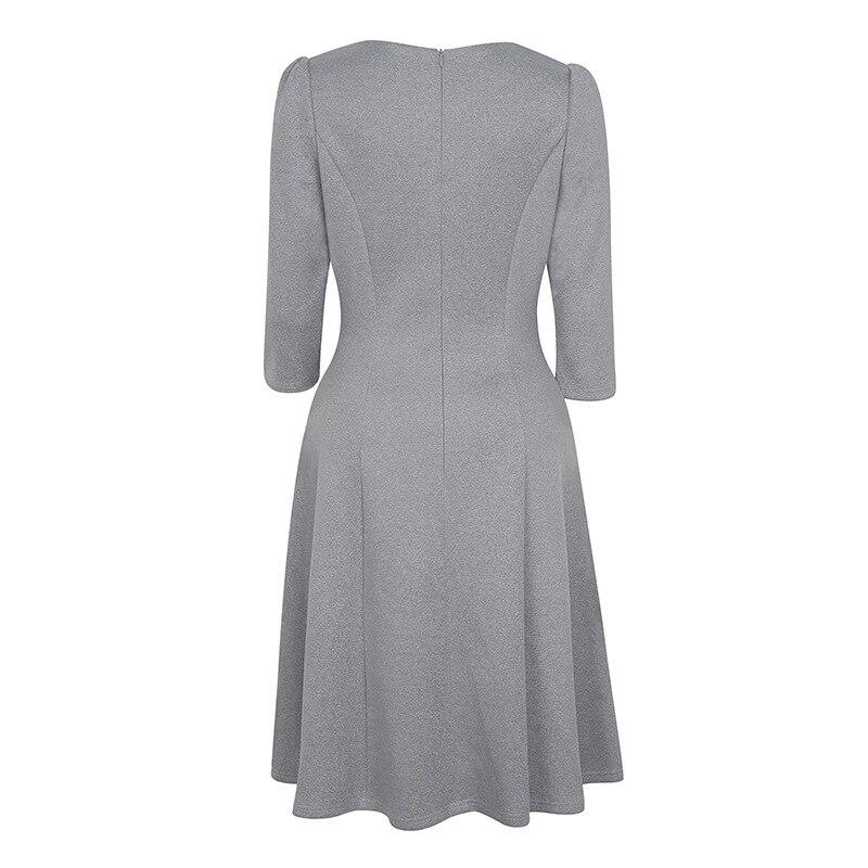 Vestido de una línea de retazos de bordado de nueva moda para mujer - Ropa de mujer - foto 5