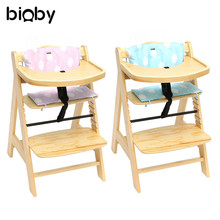 3 IN 1 Wooden Baby High Chair Adjustable Dining Highchair With Tray And Bar  Children Multifunction