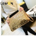 2017 New Occident Style Sequined Women Clutch Bags Famous Brand Chains Women Shoulder Bags Vintage Women Messenger Bags A676
