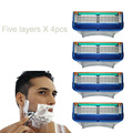 4pcs/Pack Men's Face shaving Razor Blades Beard Shaver Blade High Quality Sharp Razors 5-Blade.