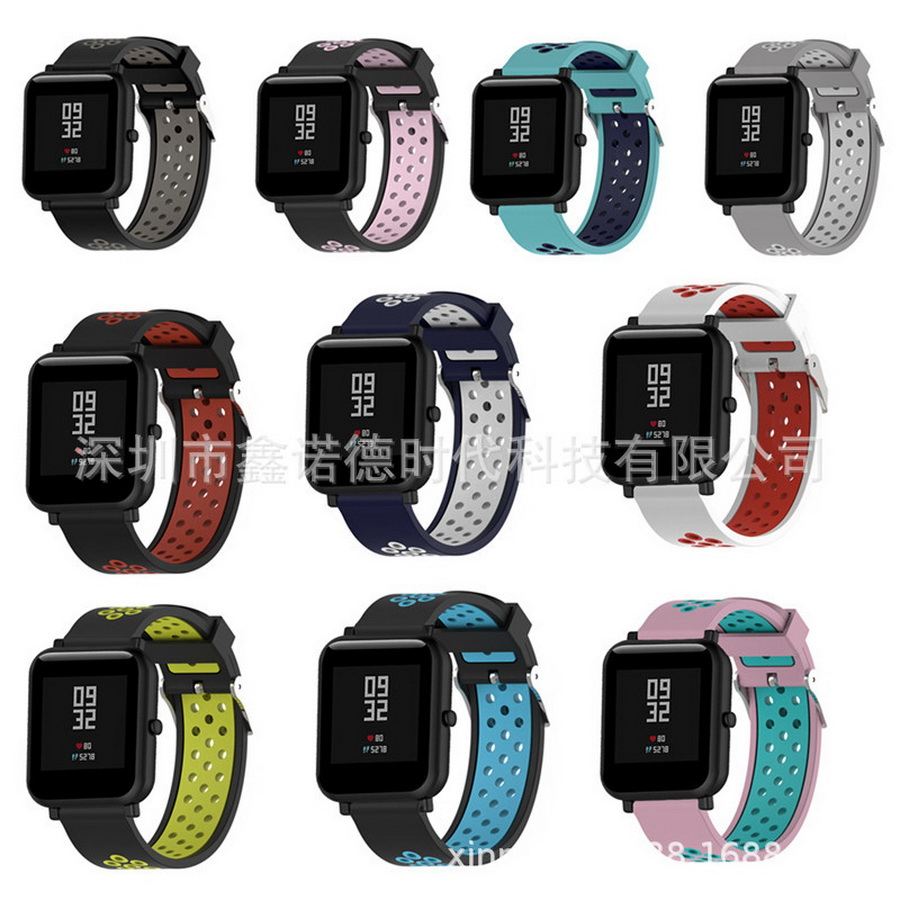 US $837.61 |500pcs Accessories For Xiaomi Amazfit Bip Smart Watch 20mm Youth Sport Smartwatch Wrist Band Strap Silicone Double Color|Smart