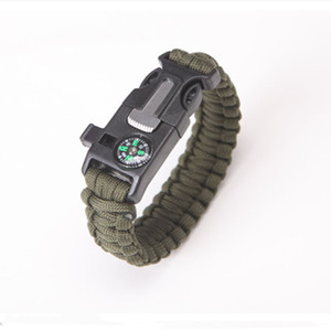 Image 4 - Multi function Military Emergency Survival Paracord 4mm Bracelet Outdoor Scraper Whistle Buckle Paracord Tools 550 Paracord