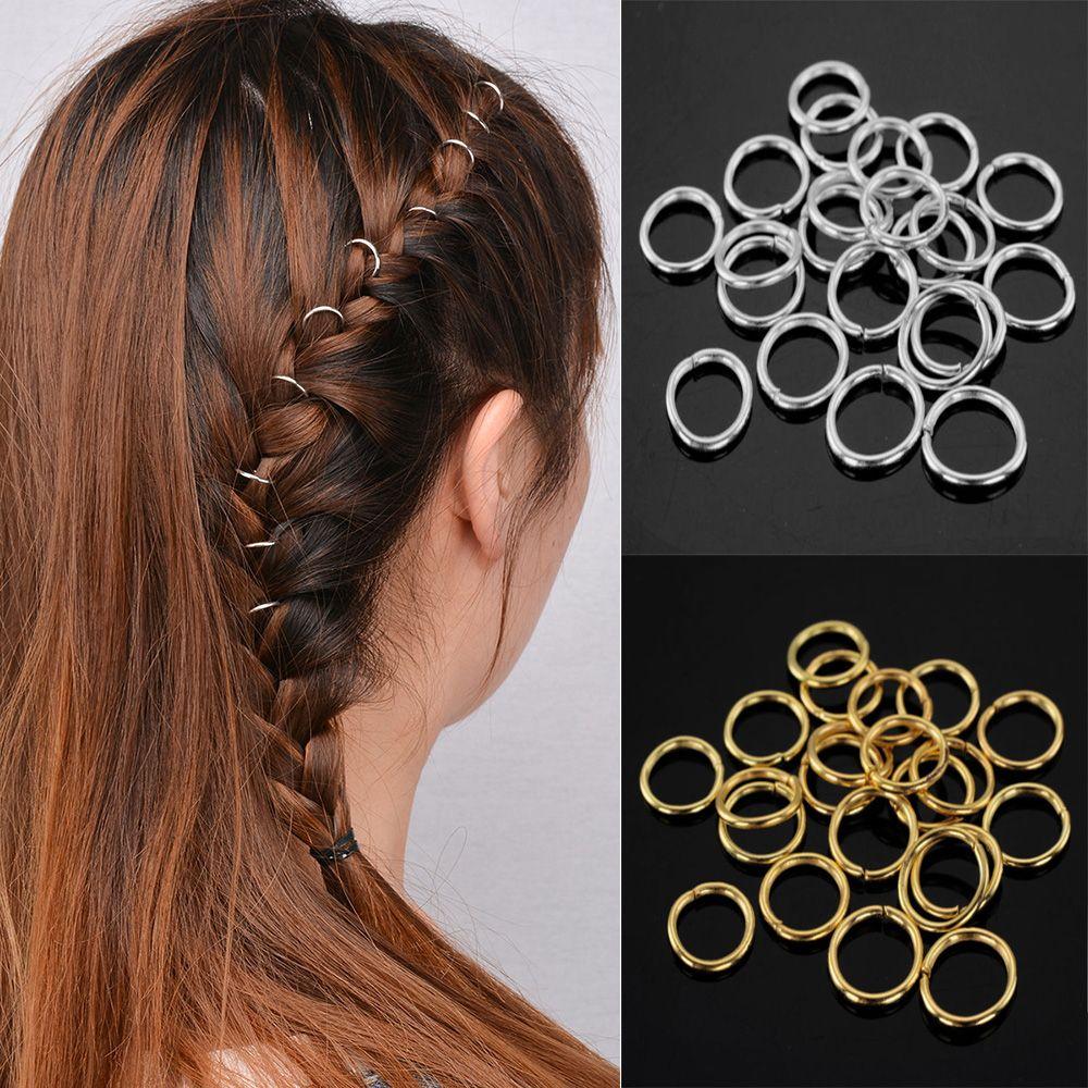 10Pcs Pcs Hoop Barrette Dreads Clip Hair Accessories Updo Dress Dreadlock Circle Hairpin Simple Temperament Hairgrips Ornament