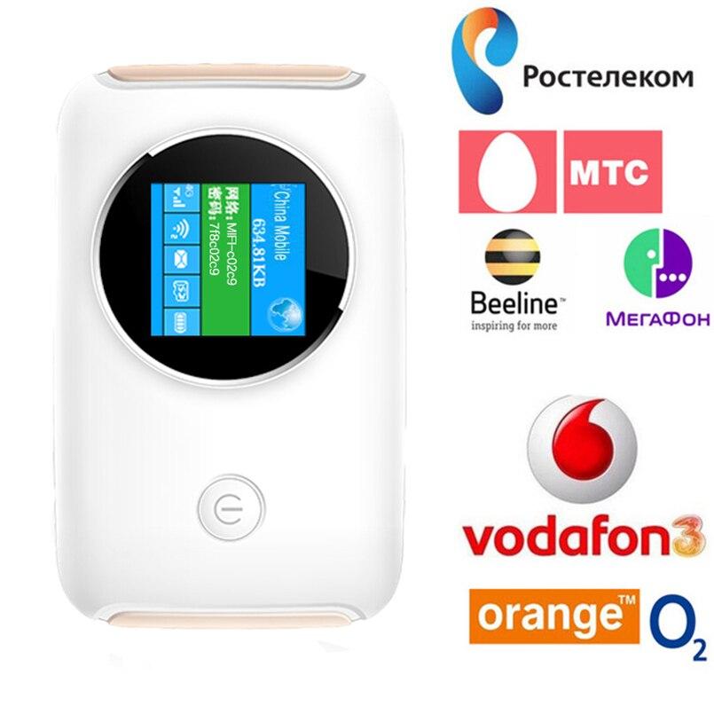 4g Lte Pocket Wifi Routeur Voiture Mobile Hotspot Mifi Déverrouillé Modem Sans Fil À Large Bande pour Apple iPhone Samsung Huawei Xiaomi téléphone