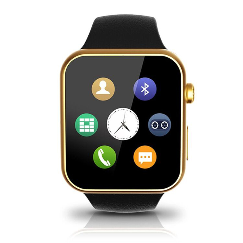A9 font b Smartwatch b font Wristwatch Bluetooth Smart Watch for Apple iPhone 5 5S 6
