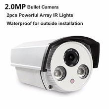 цена на Aluminum Metal Waterproof Outdoor Bullet IP Camera 960P 1080P 3MP/4MP Security Camera CCTV 2PCS ARRAY LED Board ONVIF IP Camera