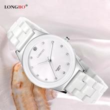 Longbo 2017 de cerámica mujeres del reloj de señoras de los relojes de marca de lujo famoso reloj de cuarzo mujer reloj relogio feminino montre femme