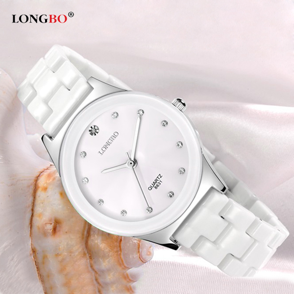 LONGBO 2018 Ceramic Wrist Watch Women Watches Ladies Luxury Brand Famous Quartz Watch Female Clock Relogio Feminino Montre Femme 2017 ceramic ladies wristwatches rose gold watch women luxury fashion quartz watch female clock relogio feminino montre femme