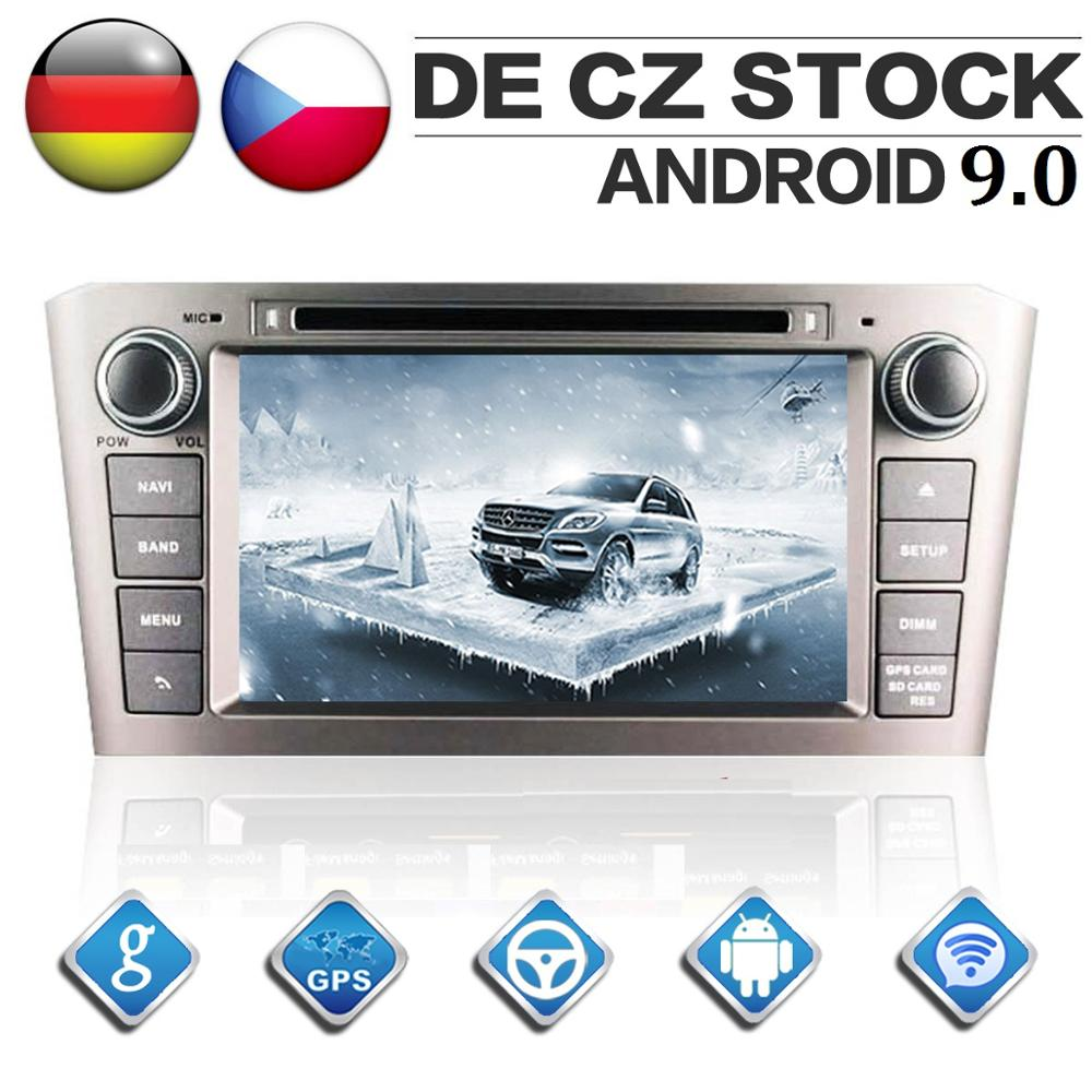 2 Din Android 9 0 Octa Core Car Radio for Toyota Avensis 2002 2008 GPS Navigation