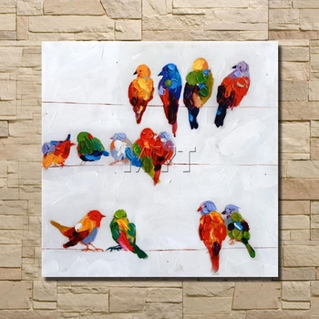 The Animal Modern Abstract Oil Painting On Canvas Wall Art for Living Room Decoration Gift Stretched And Framed Ready to Hang