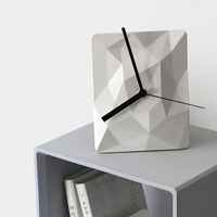 Creative cement hanging clock silicone mold living room clock square household hanging watch concrete gypsum manual mould