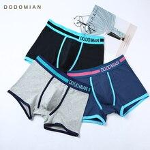 Cotton Men Boxers Underwear Casual Underpants Sexy Trunks Ventilate Plus Size Wide Waist Pants Shorts 4pcs/Lot