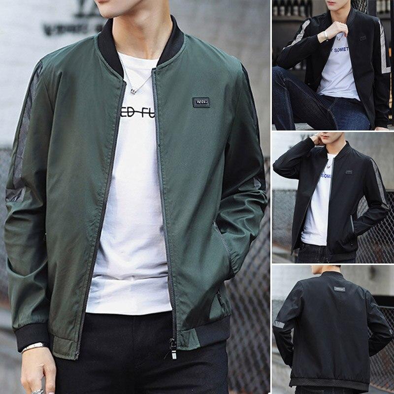2018 Brand Spring Men Casual Bomber Jacket Coat Men Hip Hop Solid Pilot Outerwear Streetwear Jacket Coat Male 3XL