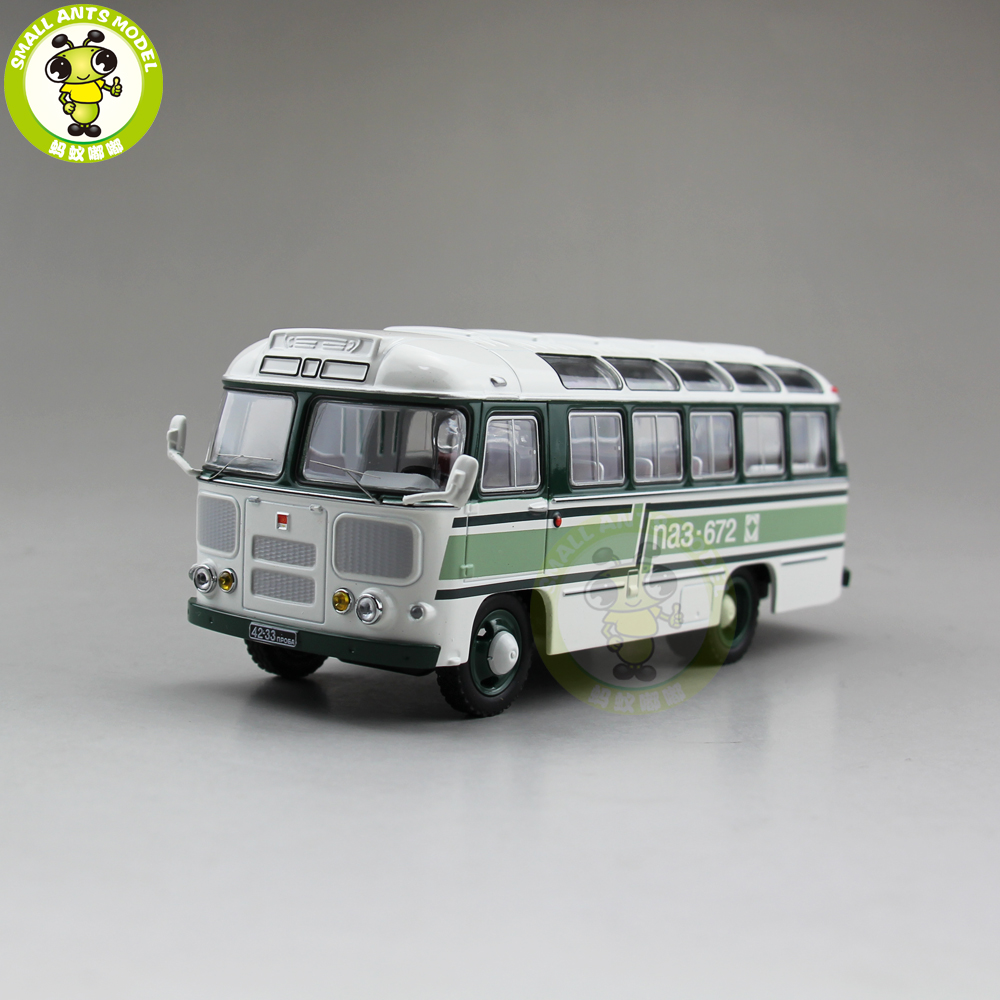 1/43 Classic PAZ 672 Soviet Union USSR Russia City Bus Coach Diecast Car  Bus Model Kids Children Gift Collection Hobby Green-in Diecasts & Toy  Vehicles from ...