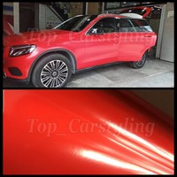 Ceramic Red Satin Vinyl Wrap Car Wrap foil Covering With air free PROTWRAPS Low tack glue Like 3M Quality 1.52X20M / 5x67ft