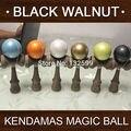 MOQ 60 pcs cor do metal pintura Kendama 6 cores 18.5 CM Boutique Japão TOY Kendamas Tradicional Jogo da noz Preta