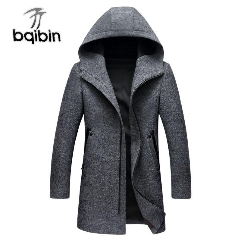 Mens Wool Parka Coat