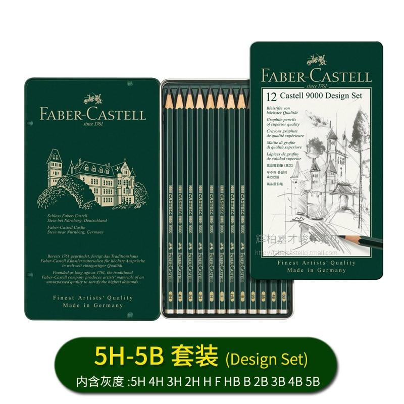 Tradition 12 X Pencils Drawing Sketching Art Set Of Most Popular Grades 6B 5B 4B 3B 2B B Hb F H 2H 3H 4H