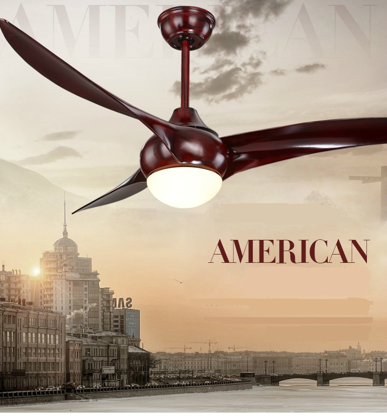 American Dining Room Living Fan Ceiling Indoor Modern Light LED Fans With Remote Control 52inch