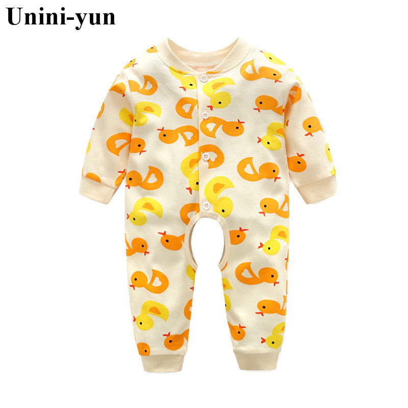 Branded Baby Rompers Pajamas Newborn Baby Clothes Cartoon Infant Cotton Long Sleeve Jumpsuits Boy Girl Autumn Bird Clothes Wear