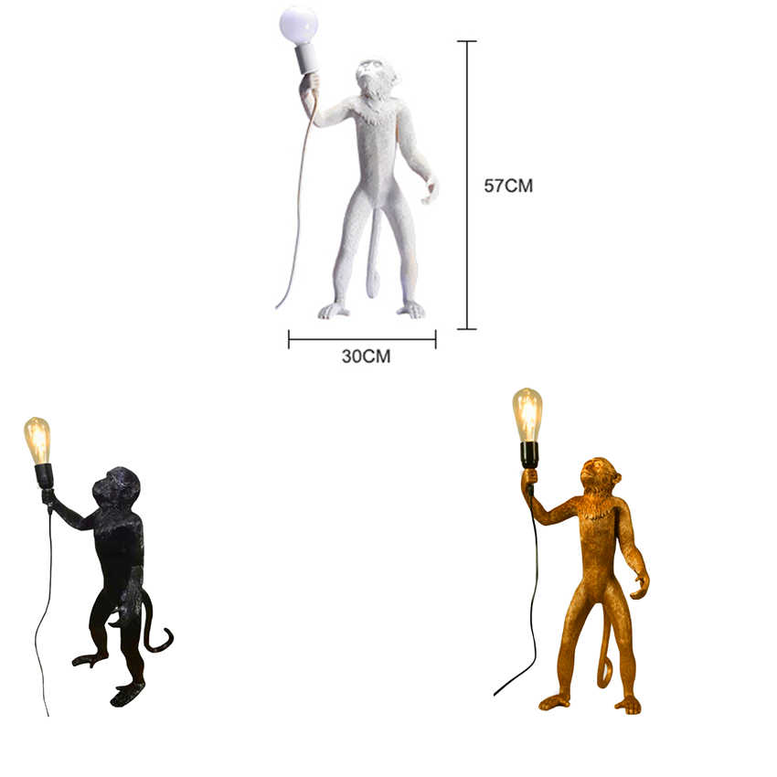 Искусство нордическая 7 колir лампа в форме обезьяны веревка светодиодный подвесной светильник освещение Смола Seletti подвесной светильник лампа в форме обезьяны подвесной светильник
