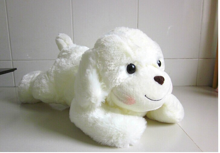 Stuffed animal 60 cm smiley dog plush toy fresh fragrant lying dog doll gift w2767 stuffed animal 88 cm plush lying tiger toy white tiger doll great gift w493