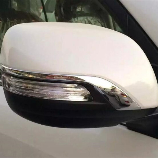 Luhuezu OEM Design With Clip Chrome Side Rearview Mirror Covers For Toyota Land Cruiser 200 12-18 Accessories Prado 10-18 us shipping side window sun shield visors vent rain wind deflector guard for toyota land cruiser 200 lc200 2008 2014