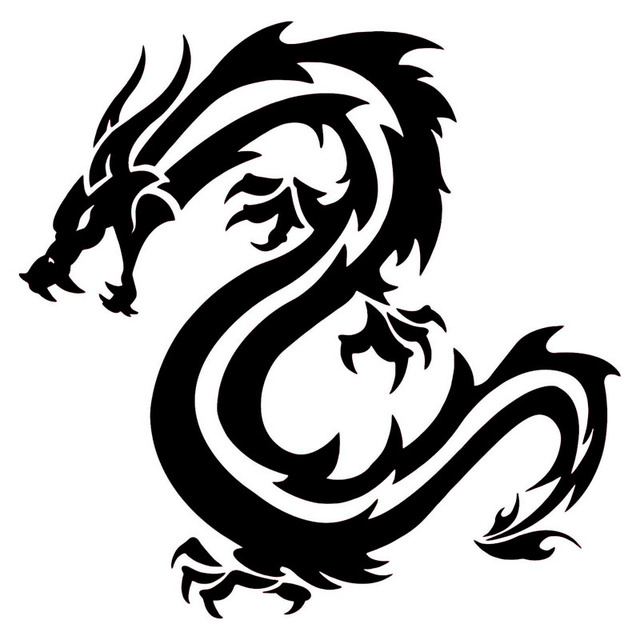 19 119cm Chinese Traditional Dragon Car Styling Stickers Creative