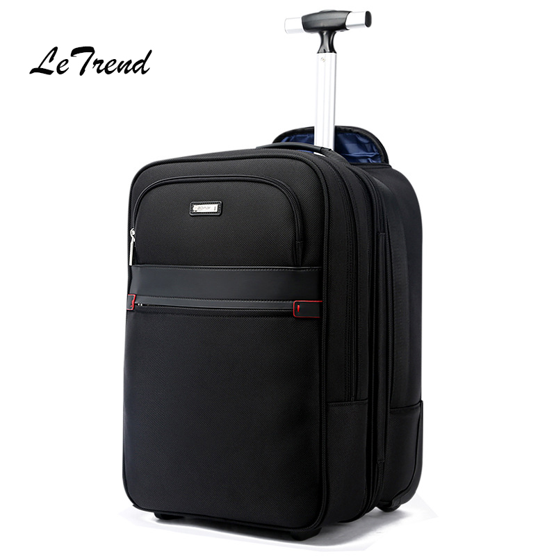 LeTrend Multi-function Travel Bag High capacity Suitcase Wheel Trolley Business Men's Shoulder Backpack laptop Rolling Luggage universal uheels trolley travel suitcase double shoulder backpack bag with rolling multilayer school bag commercial luggage